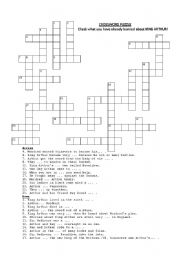King Arthur crossword puzzle