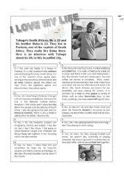 English Worksheet: Reading on World Cup 2010 - Level 1/2