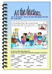 English Worksheets: At the doctors!