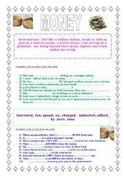 MONEY- vocabulary and idioms + KEY