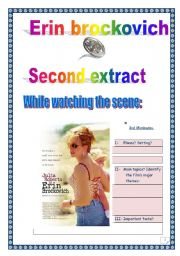 English Worksheets: ERIN BROCKOVICH SERIES (5 pages, 12 tasks, comprehensive PROJECT & KEY) - 2nd 15 minutes.