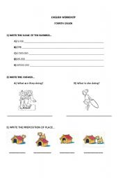 English Worksheets: Workshop Fourth Grade