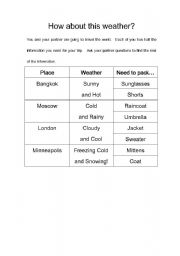 English Worksheets: How About This Weather?  Jigsaw Activity