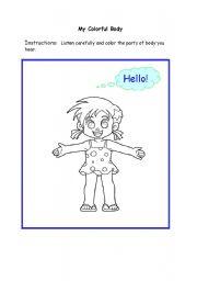English Worksheets: my beautiful body
