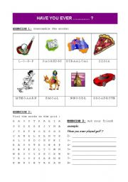 English Worksheets: Have you ever ... ?