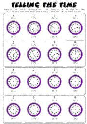 english teaching worksheets telling the time. Black Bedroom Furniture Sets. Home Design Ideas