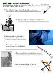English Worksheet: be going to with the cartoon Pocahontas