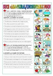 English Worksheets: SUCH+ADJ+PLURAL/UNCOUNTABLE NOUN+THAT