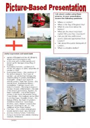 English Worksheets: Picture-based Presentation - London