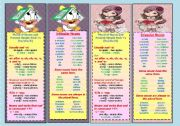 English Worksheets: Bookmarks with Plural rules