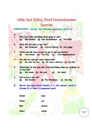English Worksheets: Reading and Comprehension Exercise