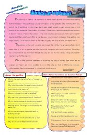 English Worksheets: Reading comprehension - Venice at a glance