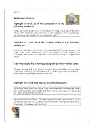 English Worksheets: Sentence exercises - Entry Level 1