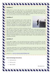 English Worksheets: Man On Wire - Philippe Petit