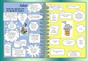 English Worksheet: ENJOYING ENGLISH WITH JOKES