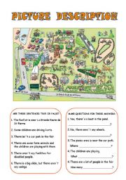 English Worksheet: Picture description 3