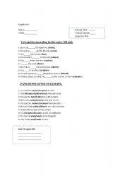 English Worksheets: Present continous