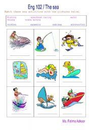 English Worksheets: sea activities