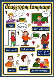 English Worksheet: CLASSROOM LANGUAGE - POSTER 2