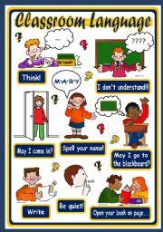 CLASSROOM LANGUAGE - POSTER 2