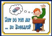 English Worksheet: CLASSROOM LANGUAGE - FLASHCARDS (SET1)