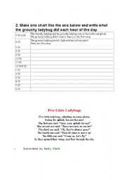 English Worksheet: ladybug activity sheet