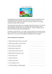 English worksheet: Reading Comprehension