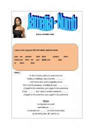 English Worksheet: Jamelia - Numb (cover of Linkin Park) worksheet