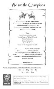 English Worksheet: sweet child of mine - song - gap fill