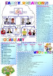 Family Tree (fully editable) 2 PAGES