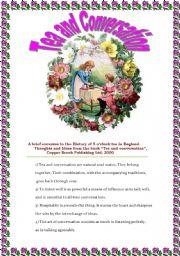 English Worksheet: Tea and Conversation