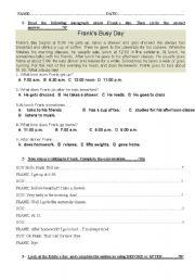 English Worksheets: backpack 3 unit 1