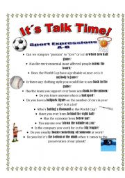 Talk Time #6 - Sport Expressions A-B