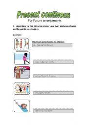 Present Continous For Future Arrangements