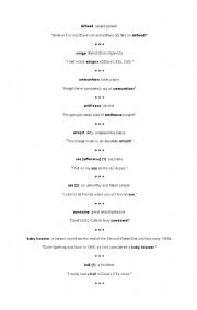 English Worksheets: slank word