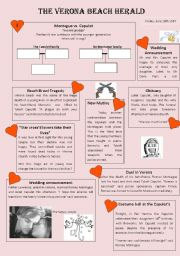 English Worksheet: Romeo and Juliet film by Baz Luhrmann with KEY [Editable]