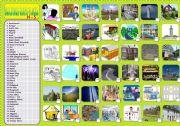 English Worksheet: BUILDINGS-SHOPS-PLACES 2/3 H-S
