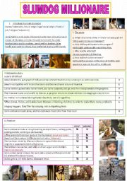 English Worksheet: Slumdog millionaire correction