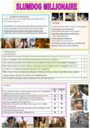 English Worksheet: Slumdog millionaire correction