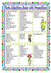 Verbs,Adjectives,Nouns with Prepositions(Part  1 A-C)