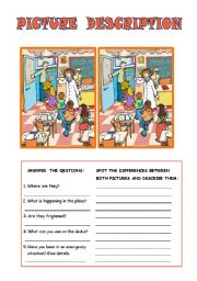 English Worksheet: Spot the difference