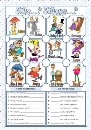 English Worksheet: WHO...?  WHOSE...?