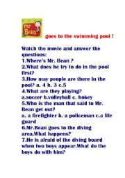 Mr Bean Goes To The Swimming Pool