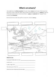 english worksheets what is an estuary. Black Bedroom Furniture Sets. Home Design Ideas