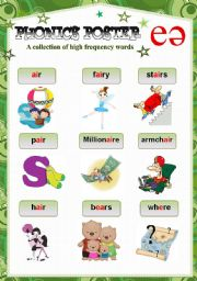 English Worksheet: PHONICS POSTER 2