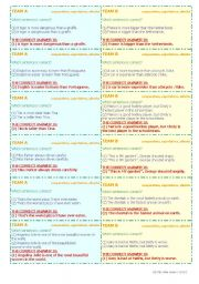 English Worksheet: VOCABULARY REVISION!! 3 SKILLS!! (reading, speaking, listening) � 6 PAGES � 60 QUESTION CARDS � CLASSROOM COMPETITION � FULLY EDITABLE � GOOD FOR ADULTS, TOO!!