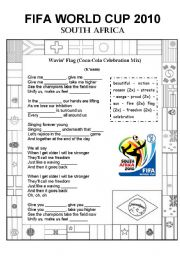 English Worksheet: WORLD CUP SOUTH AFRICA 2010