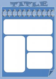 English Worksheets: template blue