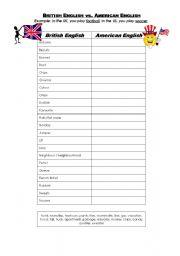 esl worksheets for adults british english vs american english. Black Bedroom Furniture Sets. Home Design Ideas