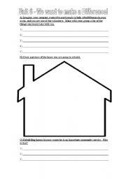 English Worksheets: Community Service Worksheet